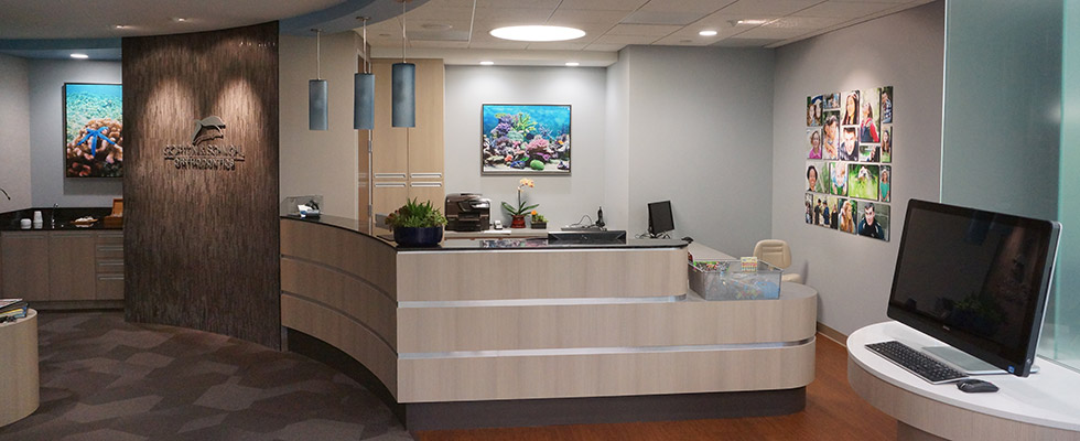 front desk at Gorton & Schmohl Orthodontics