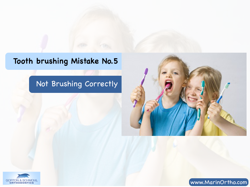 tooth brushing mistake