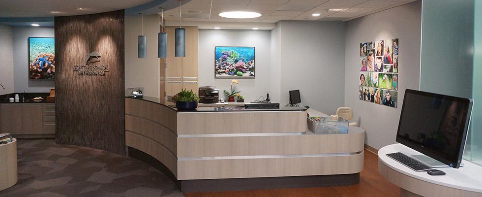 front desk at Gorton & Schmohl Orthodontics