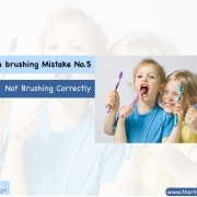 "Tooth brushing Mistake No.5: ""Not Brushing Correctly"" 6"