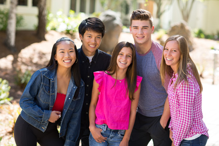 group of young marin orthodontics patiens